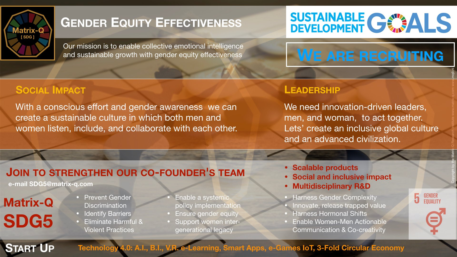 Matrix-Q SDG5 Start-Up Gender Equity Effectiveness.001